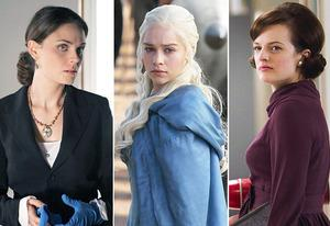 Emily Deschanel, Emilia Clarke, Elisabeth Moss | Photo Credits: Fox, HBO, AMC