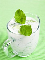 Mint and yoghurt