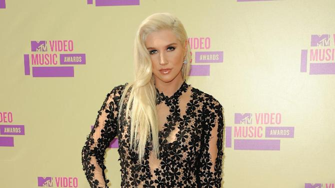 "FILE - In this Sept. 6, 2012 file photo, Ke$ha attends the MTV Video Music Awards, in Los Angeles.  MTV announced late Tuesday, Jan. 29, 2013, that the pop singer will debut a documentary series, ""Ke$ha: My Crazy Beautiful Life,"" in April. (Photo by Jordan Strauss/Invision/AP, File)"