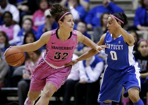 No. 10 Kentucky women beat Vanderbilt 75-53