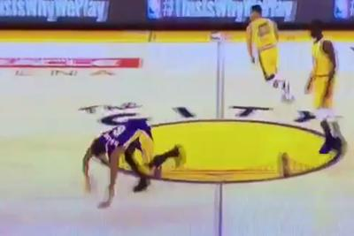 Stephen Curry's crossover sends Jordan Clarkson stumbling like a cartoon character