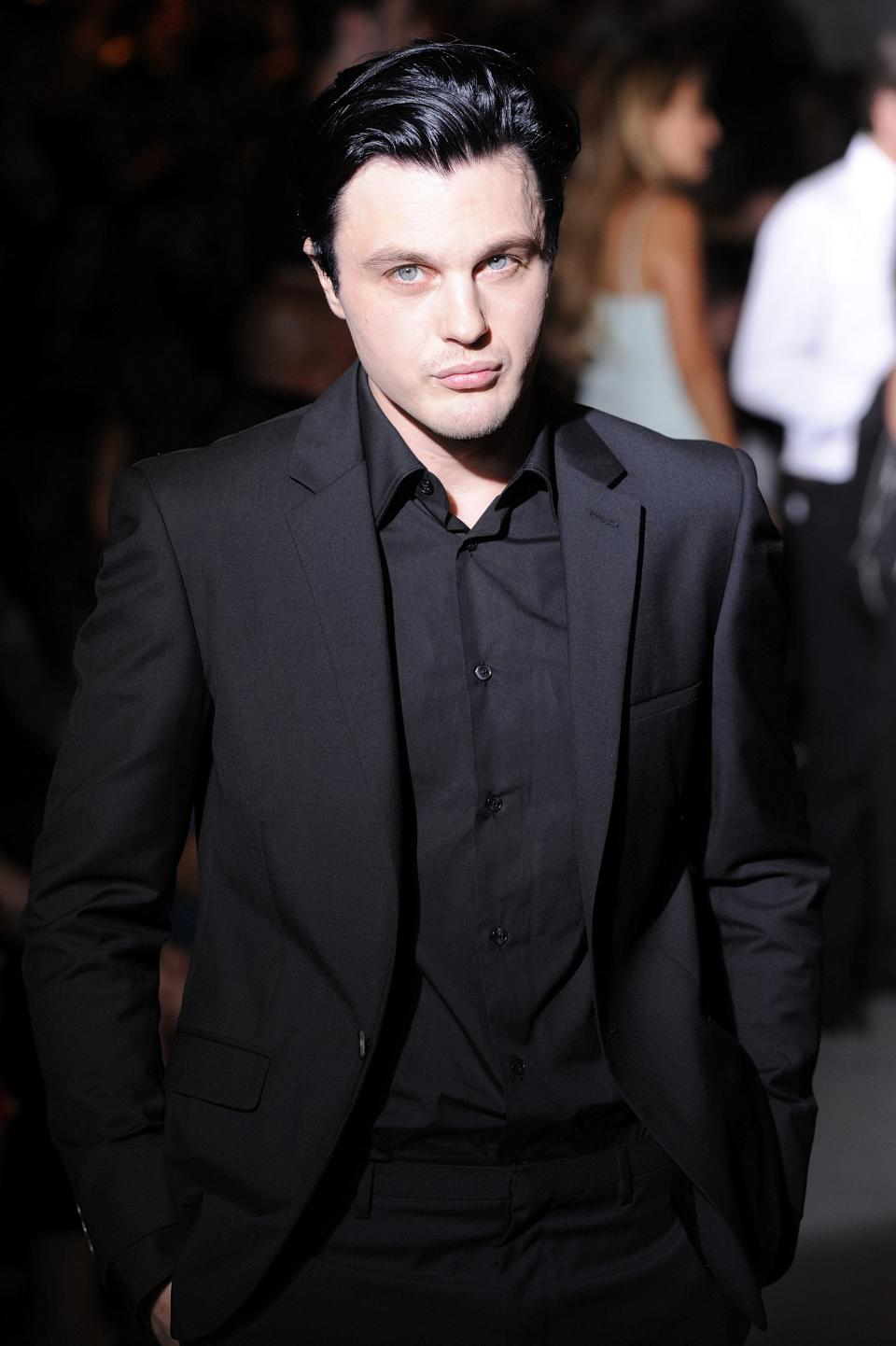 American actor and musician Michael Pitt poses during the Calvin Klein men's Spring-Summer Collection 2013 in Milan, Italy, Sunday, June 23, 2013. (AP Photo/Giuseppe Aresu)