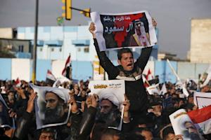 Supporters of Shi'ite cleric Moqtada al-Sadr protest …