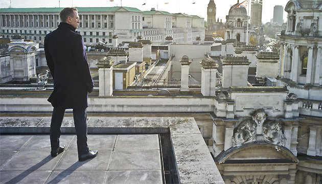 <p>Looking to the future... we chatted 'Bond 24' (Credit: Sony)</p>