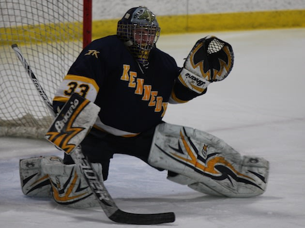 Bloomington Kennedy goalie David Johnson — Contributed Photo/Bonnie Foley