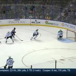 Kari Lehtonen Save on Barret Jackman (04:57/1st)