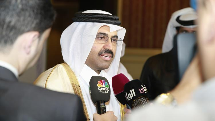 Qatar's Minister of Energy and Industry Mohammed Saleh al-Sada speaks to journalists during the opening of the Ministerial Conference of the OAPEC in Doha
