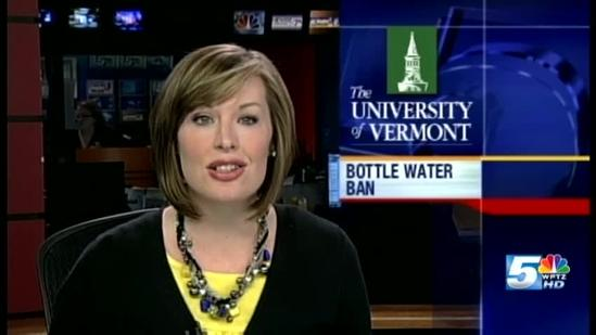 UVM bottled water ban takes effect Jan. 1