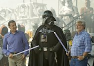 Walt Disney Co. president and CEO Bob Iger (left) and 'Star Wars' creator George Lucas (right)
