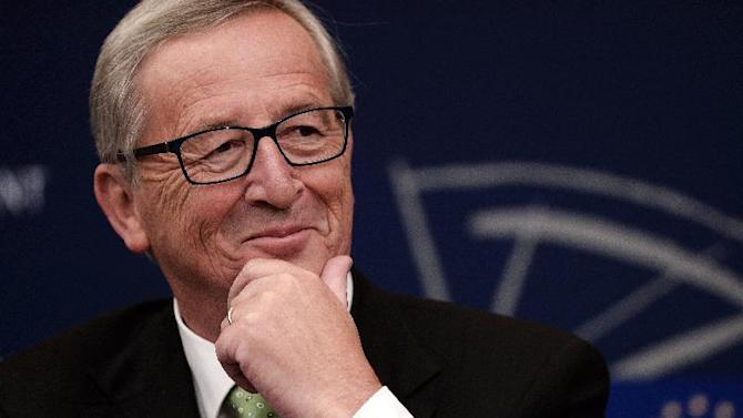 The EU's incoming chief executive Jean-Claude Juncker pictured during a press conference at the European Parliament in Strasbourg, eastern France on October 22, 2014