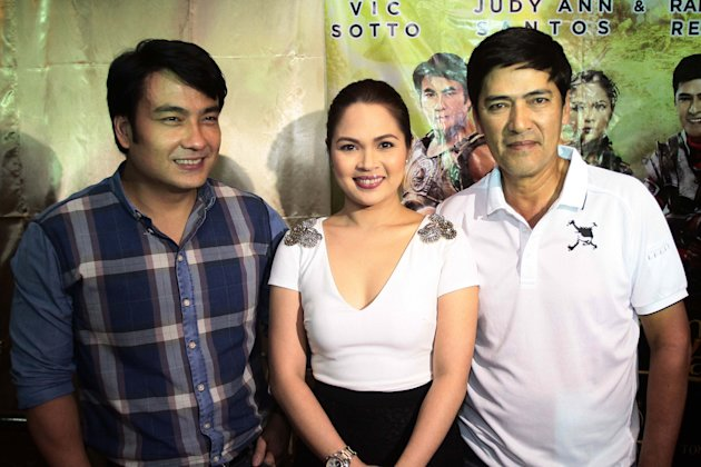 'Si Agimat, Si Enteng, at Si Ako' cast: Senator Bong Revilla, Judy Ann Santos and Vic Sotto