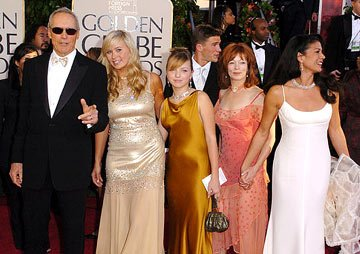 Clint Eastwood and family with Frances Fisher 62nd Annual Golden Globe Awards - Arrivals Beverly Hills, CA - 1/16/05