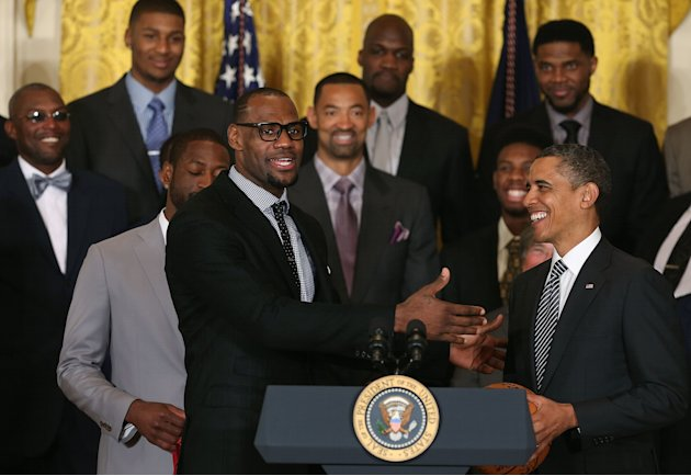 Obama Welcomes NBA Champion Miami Heat To White House