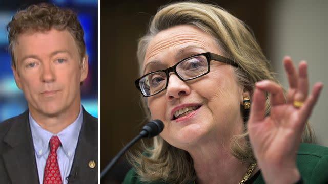 Sen. Rand Paul reacts to Clinton testimony
