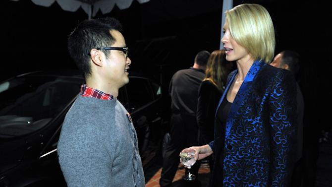Danny Seo, left, and Jenna Elfman attend the Stella McCartney holiday party sponsored by Ford C-MAX Hybrid on Wednesday, Dec. 12, 2012 in West Hollywood, Calif. (Photo by John Shearer/Invision for Ford/AP Images)