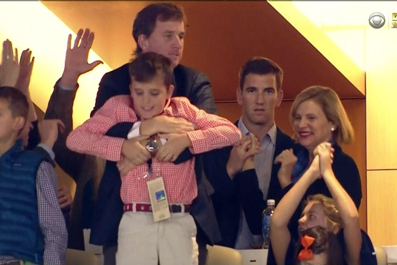 Eli Manning is so mad that Peyton is going to win a second Super Bowl, too