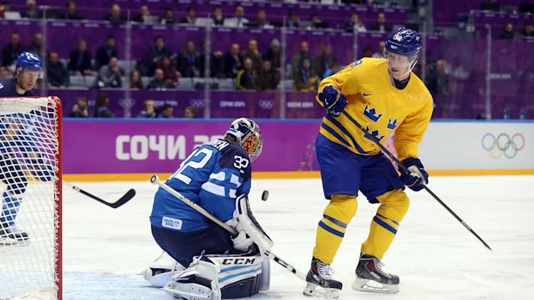 Olympics: Ice Hockey-Men's Semifinals-Sweden vs Finland
