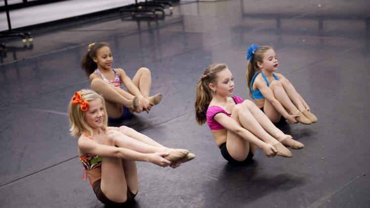 "Paige, Maddie, Mackenzie and Nia star in ""Dance Moms."""