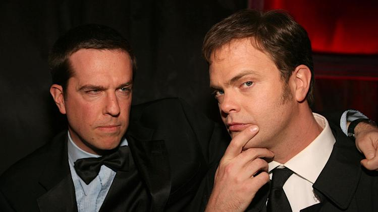 Ed Helms and Rainn Wilson at Cartier's 2007 Golden Globes After Party.