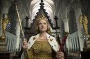 "This publicity image released by Starz shows Rebecca Ferguson in ""The White Queen,"" premiering Saturday at 8 p.m. EDT. (AP Photo/Starz, Ed Miller)"