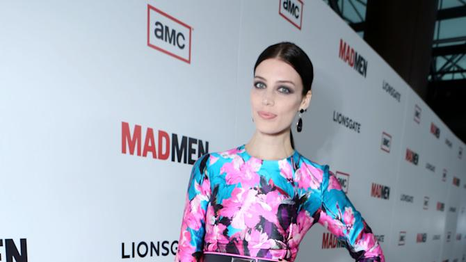 Jessica Pare at the AMC Season 6 Premiere of Mad Men , on Wednesday, March, 20, 2013 in Los Angeles. (Photo by Alexandra Wyman/Invision for AMC/AP Images)