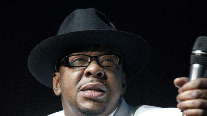 FILE - In this Feb. 18, 2012 file photo, singer Bobby Brown, former husband of the late Whitney Houston performs with New Edition at Mohegan Sun Casino in Uncasville, Conn. Brown's attorney entered a no contest plea to one count of drunken driving on Wednesday in Los Angeles. The singer was sentenced to three years of informal probation and ordered to undergo a three-month alcohol education course. (AP Photo/Joe Giblin, file)