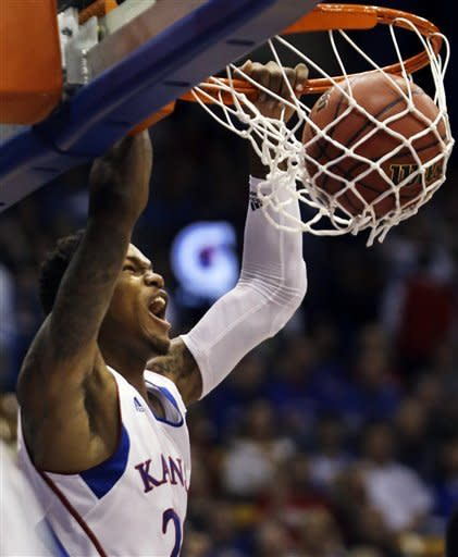 Withey leads No. 9 Kansas past Richmond, 87-59