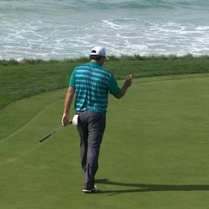 Steven Bowditch converts long-range birdie putt at AT&T Pebble Beach