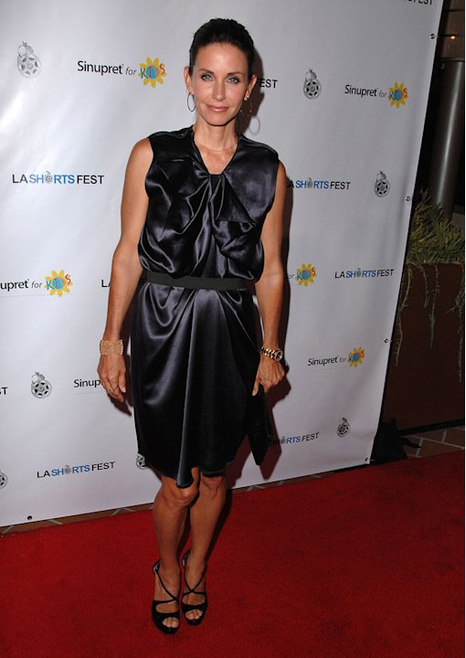 Courteney Cox-Arquette  arrives at the opening night of the LA Shorts Fest'09 at the Laemmle Sunset 5 Theatre on July 23, 2009 in West Hollywood, California.