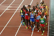 Tariku Bekele of Ethiopia competes in in Men's 10,000m (Getty Images)