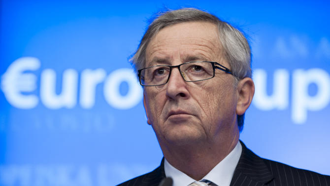 Luxembourg's Prime Minister Jean-Claude Juncker pauses before speaking during a media conference after a meeting of eurogroup finance ministers in Brussels on Thursday, Dec. 13, 2012. The European Union on Thursday took a major step towards one of the most important transfers of financial authority away from national capitals when its member states agreed to create a single supervisor for their banks. (AP Photo/Virginia Mayo)