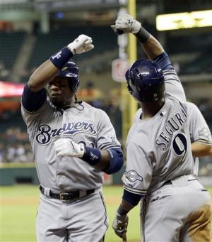 Weeks, Ramirez homer later, Brewers top Astros 3-1