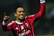 A second-half goal from Urby Emanuelson, pictured in March 2012, gave AC Milan a 1-0 friendly win over Schalke 04 on Tuesday in a pre-season warm-up match played in Gelsenkirchen