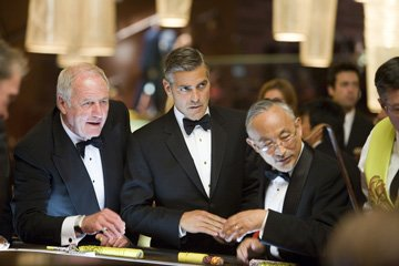 Jerry Weintraub and George Clooney in Warner Bros. Pictures' Ocean's Thirteen