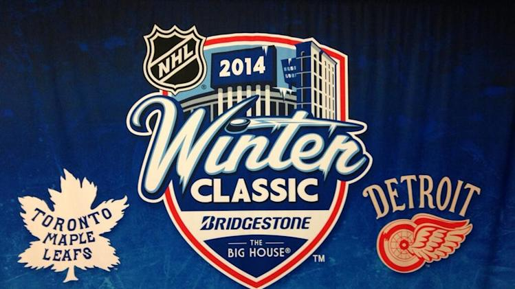 NHL announces the 2014 Winter Classic at the Michigan Stadium on January 1st, 2014 (Photo by Nick Cotsonika @cotsonika)