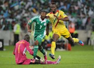 Nigeria forward Ahmed Musa scores during the Africa Cup of Nations semi-final against Mali on February 6, 2013. Nigeria thrashed Mali 4-1 in Durban to surge into the final