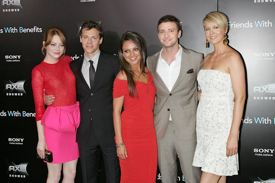 Friends with Benefits 2011 NY Premiere Emma Stone Will Gluck Mila Kunis Justin Timberlake Jenna Elfman