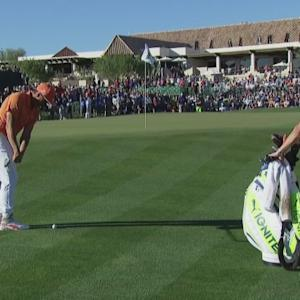 Rickie Fowler's superb up and down for par at Waste Management
