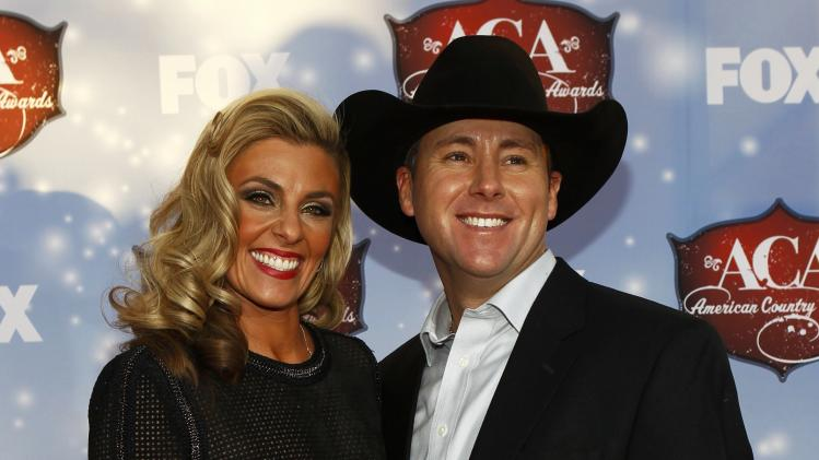 Trevor Brazile and wife Shada pose during the 4th annual American Country Awards in Las Vegas