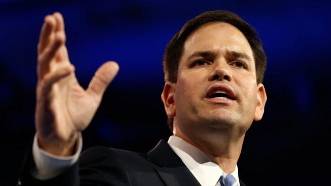 After the briefest of pauses, Marco Rubio is marching full steam ahead.