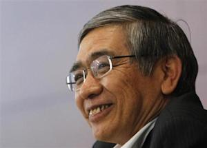 Bank of Japan Governor Kuroda speaks during a news conference in Tokyo