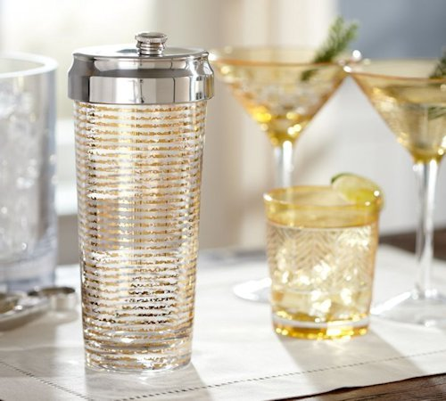 Gold Stripe Cocktail Shaker