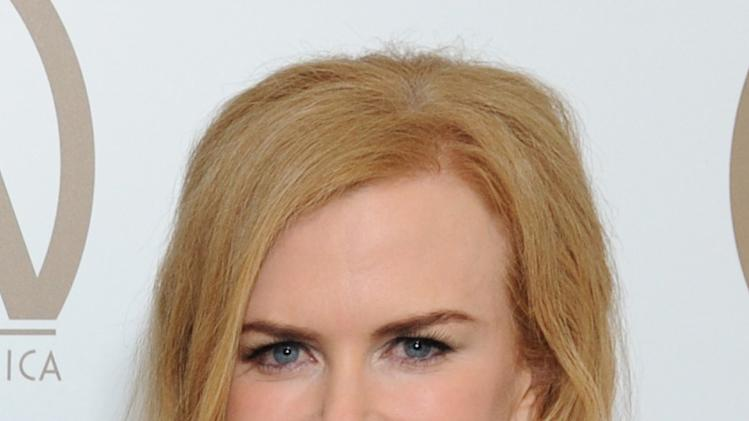 Nicole Kidman is seen backstage at the 24th Annual Producers Guild (PGA) Awards at the Beverly Hilton Hotel on Saturday Jan. 26, 2013, in Beverly Hills, Calif. (Photo by Jordan Strauss/Invision for Producers Guild/AP Images)
