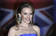 Singer Kylie Minogue at the BRIT Awards 2012 on February 21. Minogue stars opposite Eva Mendes in &quot;Holy Motors&quot; by Leos Carax
