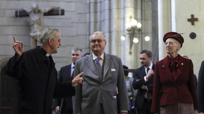 Denmark's Queen Margrethe II and Prince Consort Henrik visit Zagreb's Cathedral