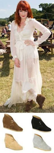 FESTIVAL FASHION: Get Florence Welch's wedged boots at Clarks