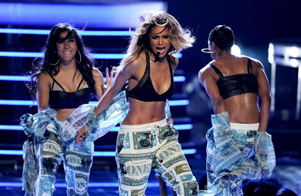 Ciara performs onstage at the BET Awards at the Nokia Theatre on Sunday, June 30, 2013, in Los Angeles. (Photo by Frank Micelotta/Invision/AP)