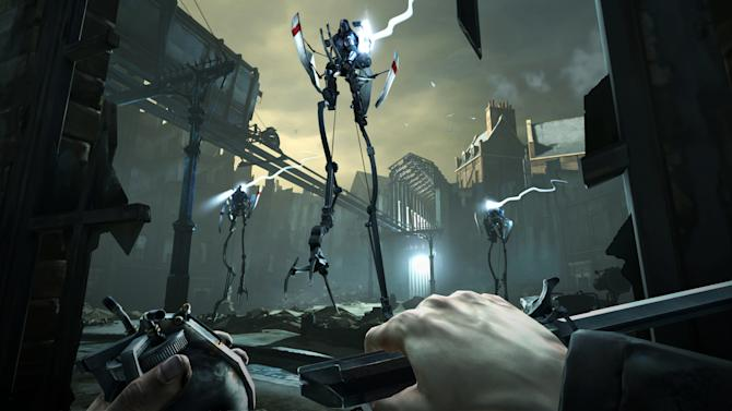"""FILE - This video game image released by Bethesda Softworks shows a scene from """"Dishonored."""" The stealthy revenge drama """"Dishonored,"""" artsy puzzler """"Journey,"""" sci-fi sequel """"Mass Effect 3,"""" zombie survival saga """"The Walking Dead: The Game"""" and old-school strategy title """"XCOM: Enemy Unknown"""" are up for the game of the year trophy at the 13th annual Game Developers Choice Awards on Wednesday, March 27, 2013. (AP Photo/Bethesda Softworks, File)"""