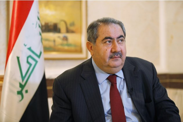 Iraq's Foreign Minister Hoshiyar Zebari listens during an interview with Reuters in Baghdad