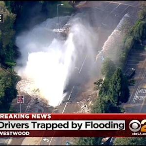 Water Main Break Creates Flooding Near UCLA